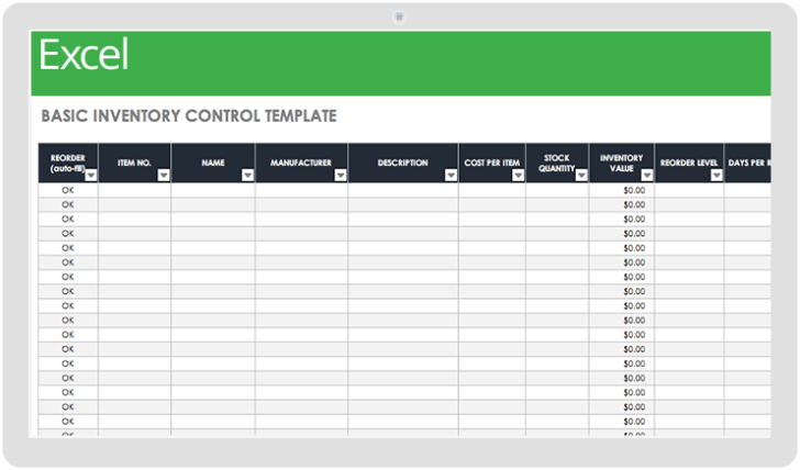Medium Size of Ic Basic Inventory Control Template Device 0 Excel Templates Download