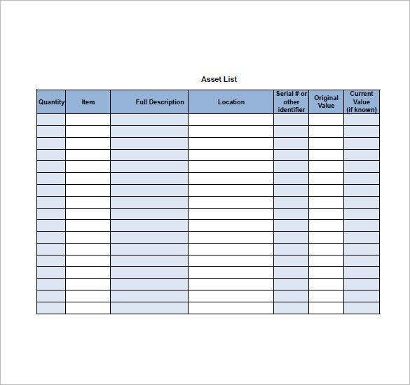 Full Size of Asset Template Free Word Excel Pdf Format Premium Templates Business Continuity Outline Spreadsheet List