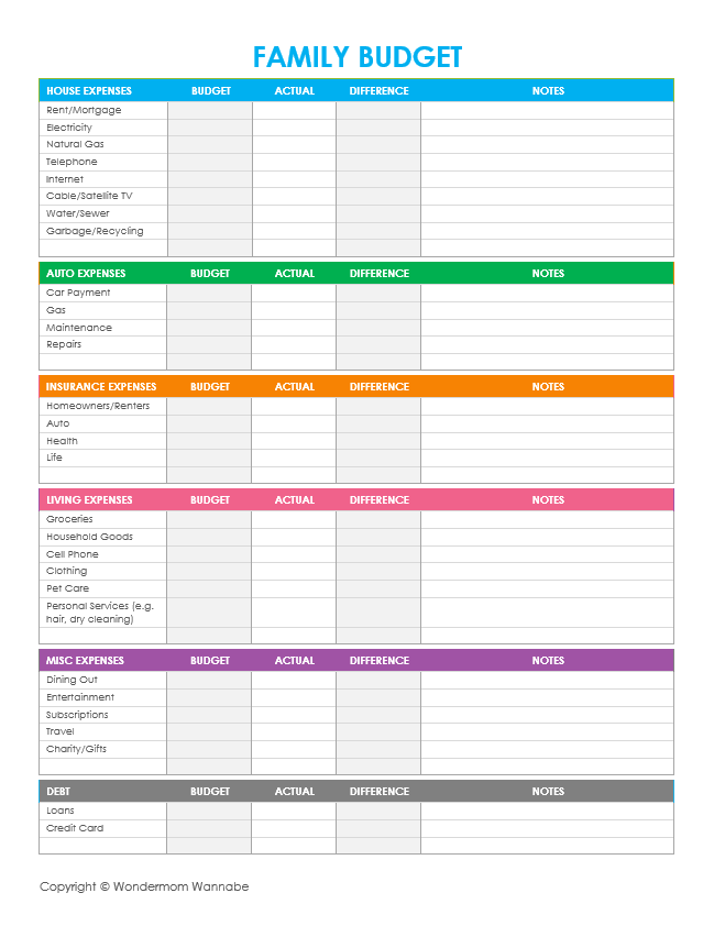 Full Size of Bar Expenses Spreadsheet Expense Tracker Excel Track Your Household Budget Template