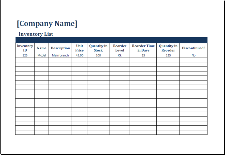 Medium Size of Bootstrap Business Templates Free Microsoft Office Plan Template Inventory Control With Count Sheet For Excel