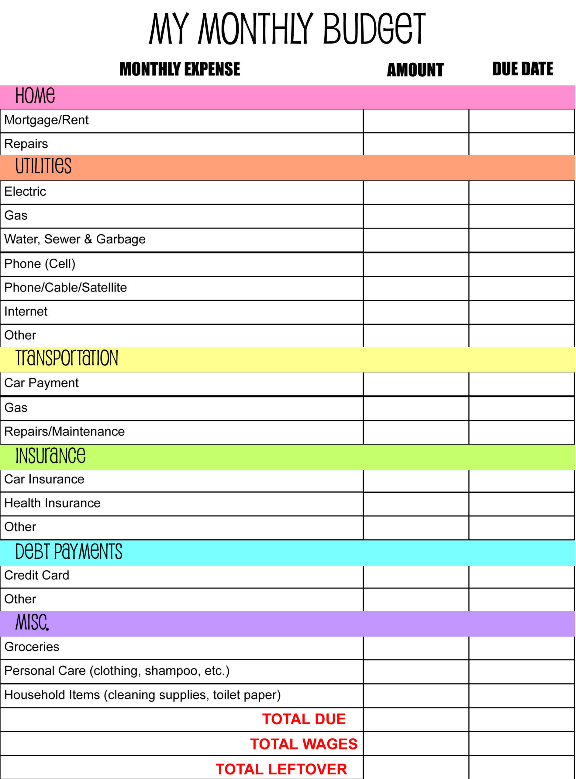 Full Size of Budget Spreadsheet Monthly Excel Information Technology Planner Template