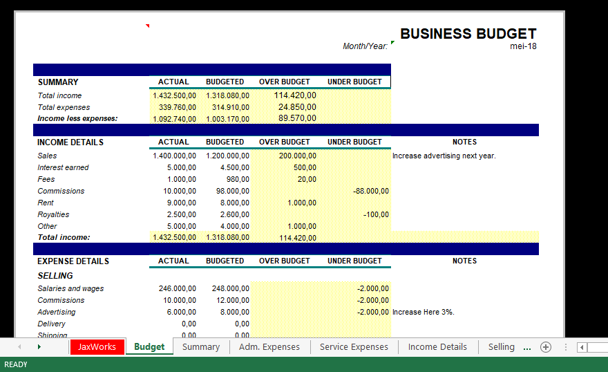 Full Size of Budget Templates For Small Business Powerpoint Slide Free Brochure Template