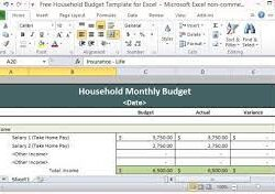 Business Source 26102 Template 26116 Household Budget Excel