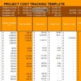 Thumbnail Size of Project Cost Tracking Excel Template Expense