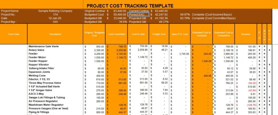 Large Size of Project Cost Tracking Excel Template Expense
