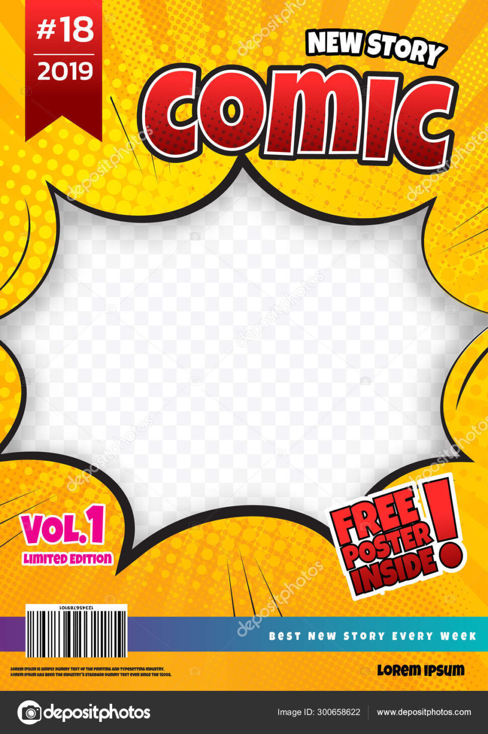 Large Size of Comic Book Template Design Magazine Cover Stock Vector Image By Piikcoro1 Depositphotos Spreadsheet