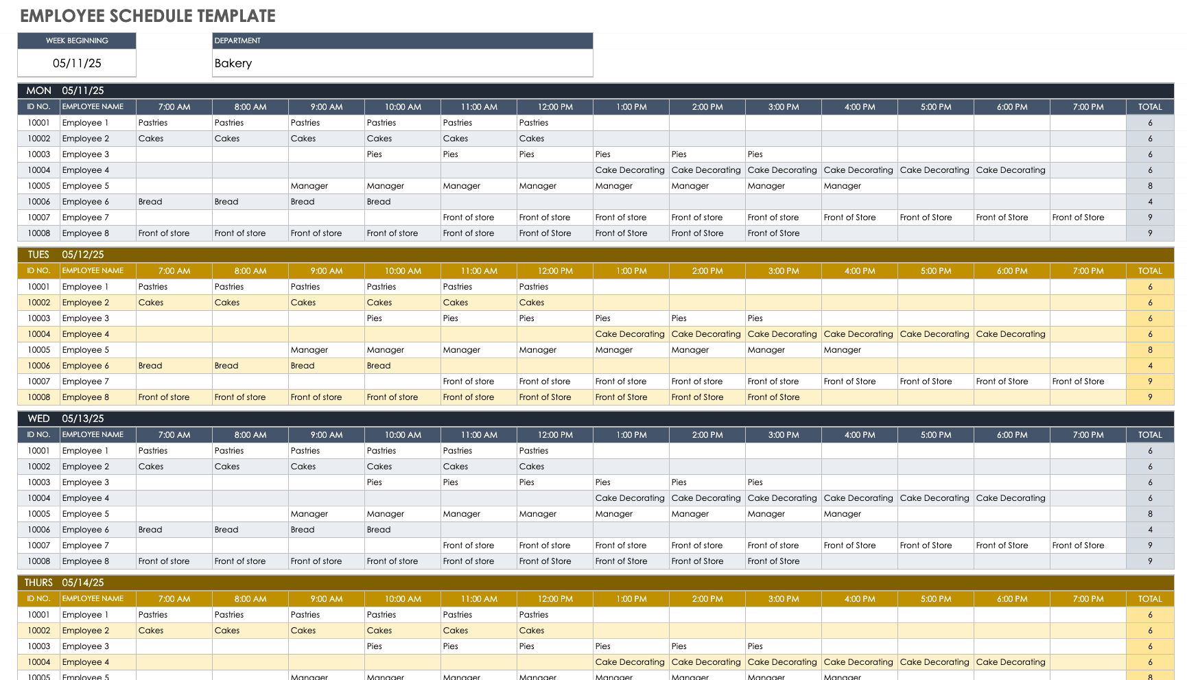 Full Size of Contents Template Business Plan For Cleaning Google Sheets Work Schedule