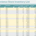 Convenience Store Inventory Template Excel Printable Simple Business Plan Spreadsheet For