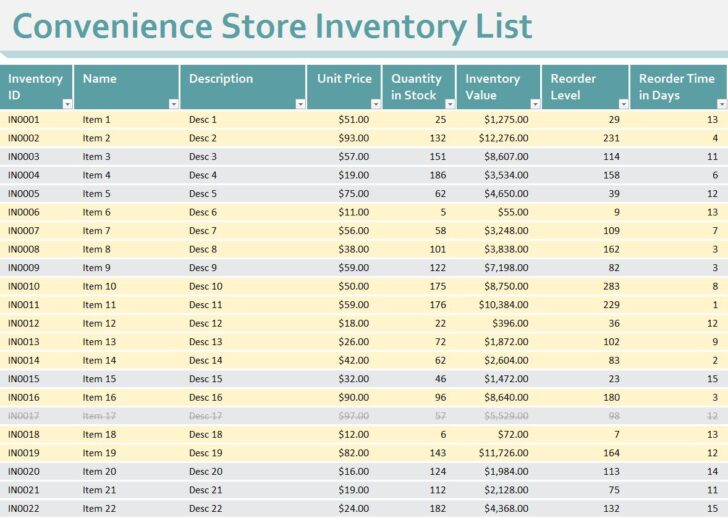 Medium Size of Convenience Store Inventory Template Excel Printable Simple Business Plan Spreadsheet For
