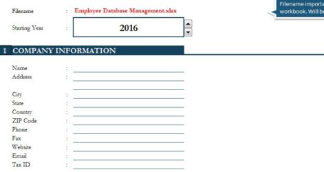 Employee Database Management My Excel Templates Template Life And Finances Spreadsheet