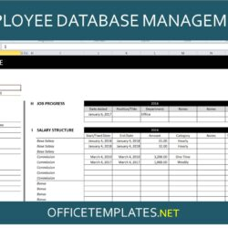 Employee Database Management Spreadsheet Officetemplates Net Excel Template Double Entry
