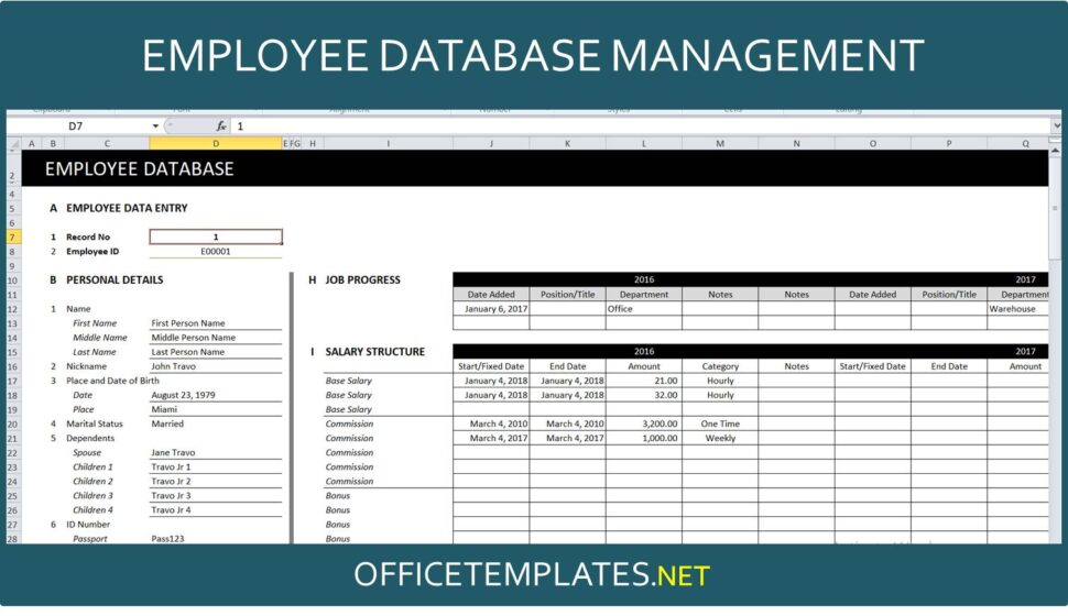 Large Size of Employee Database Management Spreadsheet Officetemplates Net Excel Template Double Entry