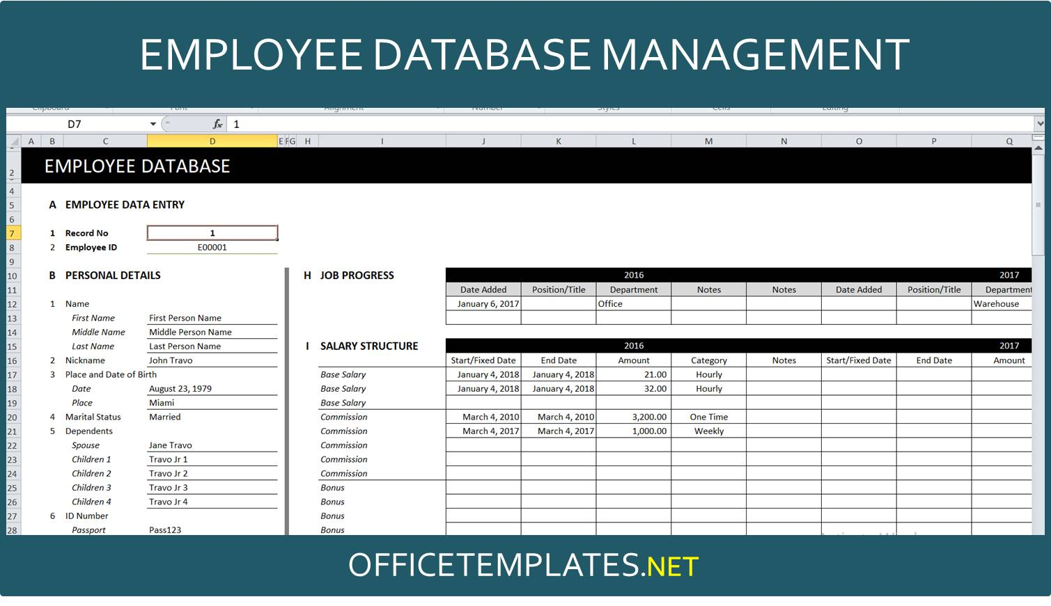 Full Size of Employee Database Management Spreadsheet Officetemplates Net Excel Template Double Entry