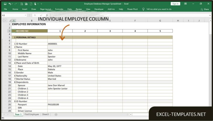 Medium Size of Employee Database Manager Excel Templates Template Spreadsheet Life And Finances For