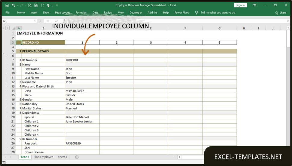Large Size of Employee Database Manager Excel Templates Template Spreadsheet Life And Finances For