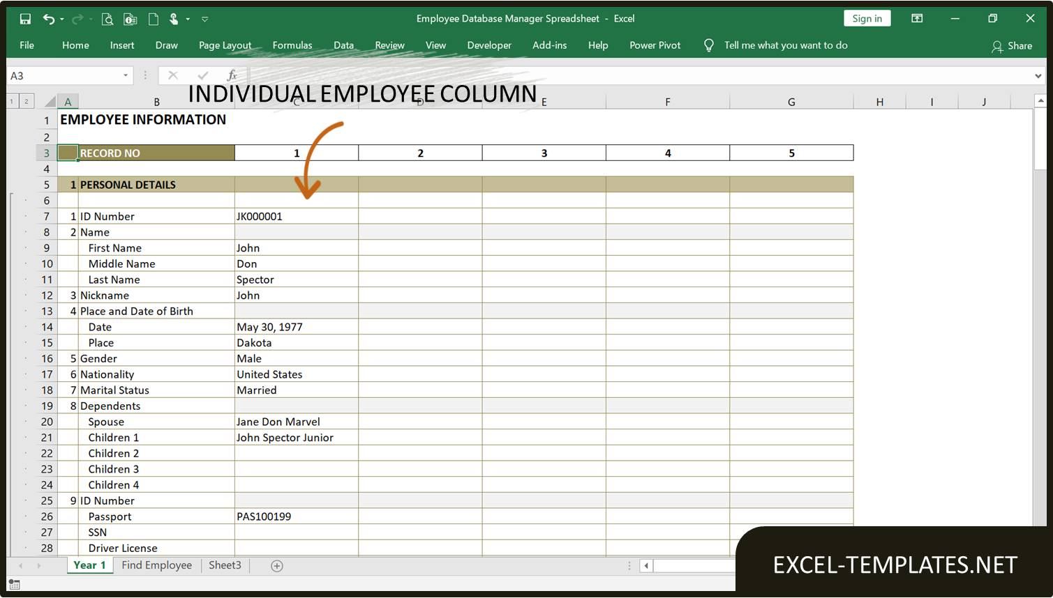 Full Size of Employee Database Manager Excel Templates Template Spreadsheet Life And Finances For
