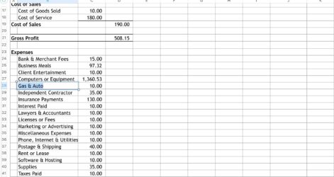Excel Accounting And Bookkeeping Template Included Bench In Free Spreadsheet Software