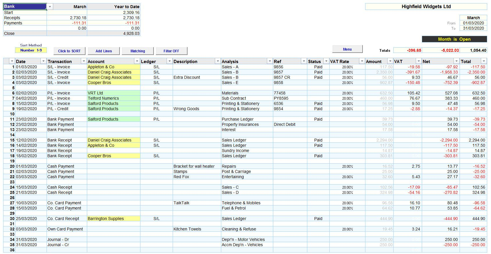 Full Size of Excel Accounting Spreadsheet Templates Making Tax Digital Version Mr Small Business Uk