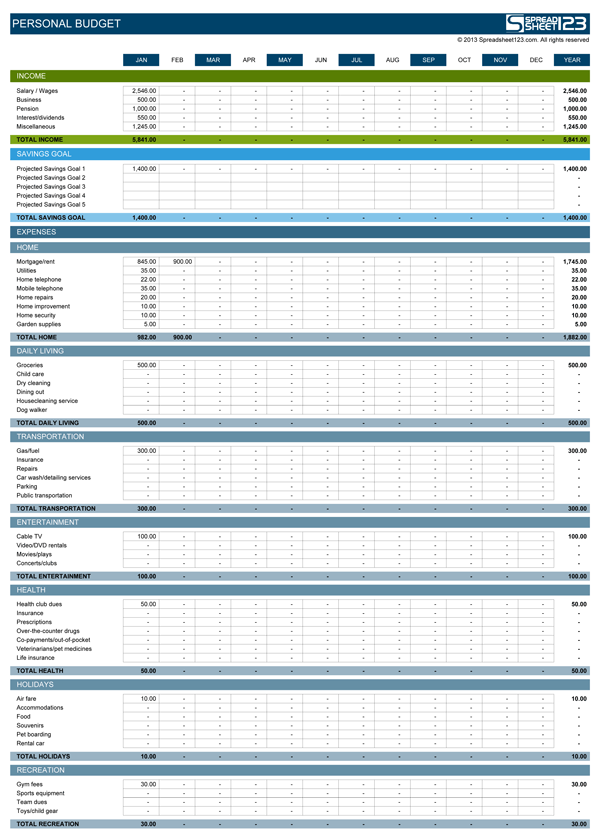 Full Size of For Pc Free Spreadsheet Program Excel Templates Personal Budget Template