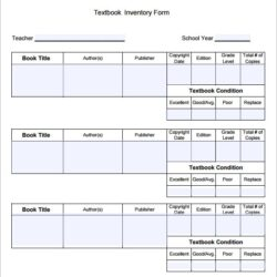 Free Book Inventory Samples In Pdf Stock Template Textbook Template1 Google Spreadsheet