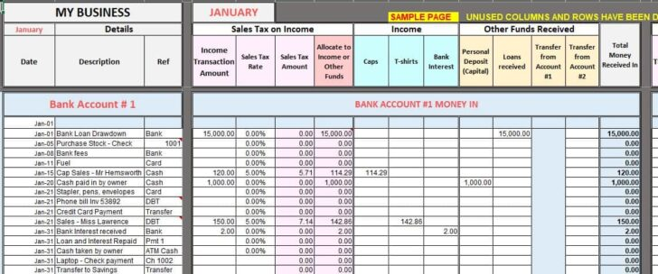 Free Excel Bookkeeping Templates Accounting Template Expense Sheet Format Persuasive Spreadsheet