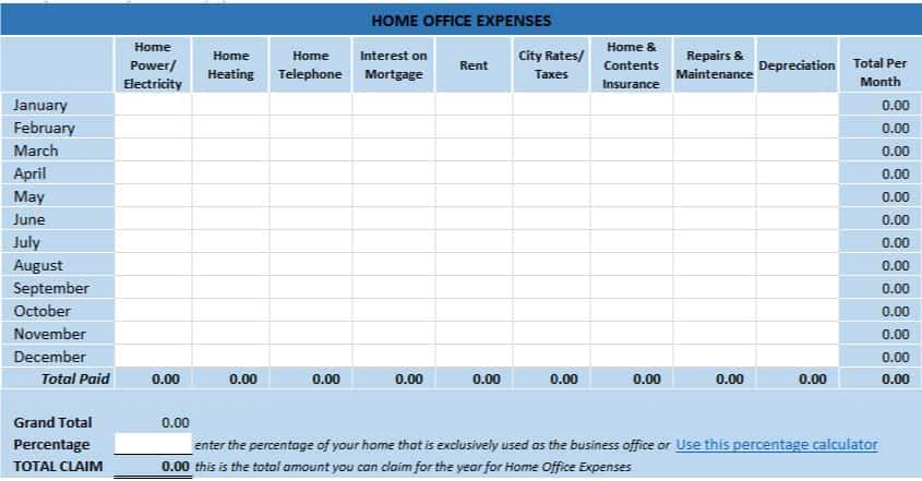Full Size of Free Excel Bookkeeping Templates Small Business Spreadsheet Home Office Tax Expenses Uk