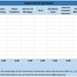 Free Excel Bookkeeping Templates Spreadsheet Examples For Small Business Home Office Tax