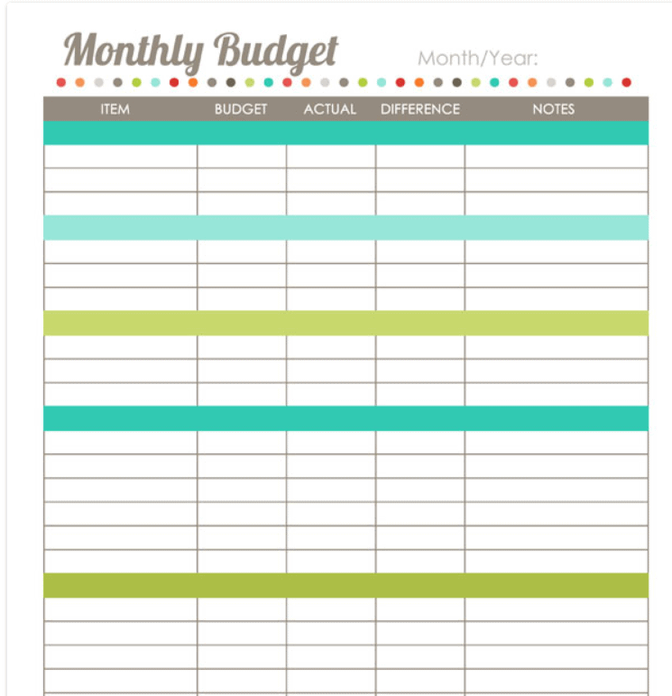Full Size of Free One Pager Template Business Online Store Templates Pages Monthly Budget