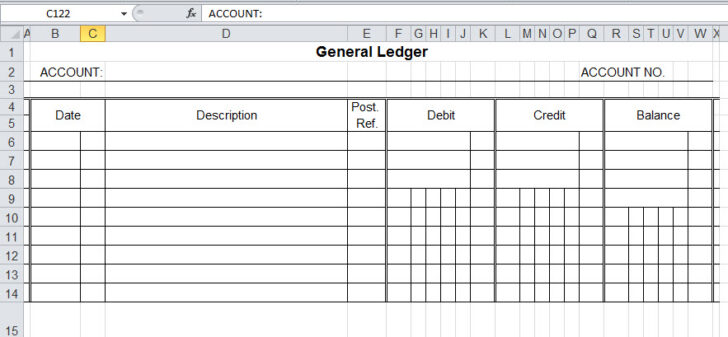 General Ledger Template And Free Bookkeeping Templates Excel For Budget Proposal Simple Spreadsheet