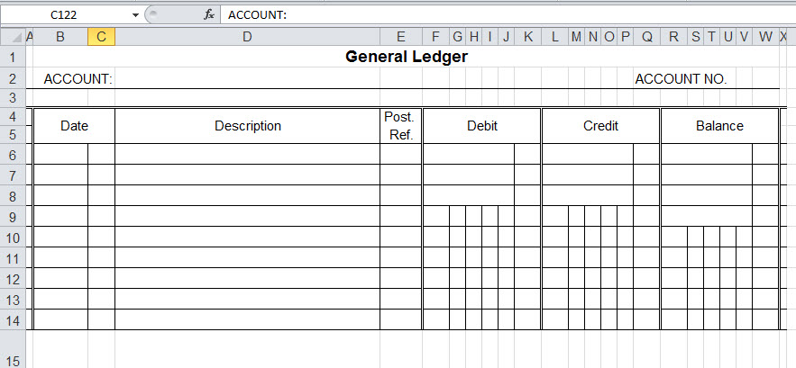 Full Size of General Ledger Template And Free Software In Excel Small Business Expenses Spreadsheet