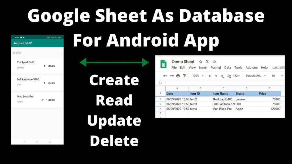 Large Size of Google Sheet As Database For Android Crud Create Read Update Delete Operation Use Spreadsheet
