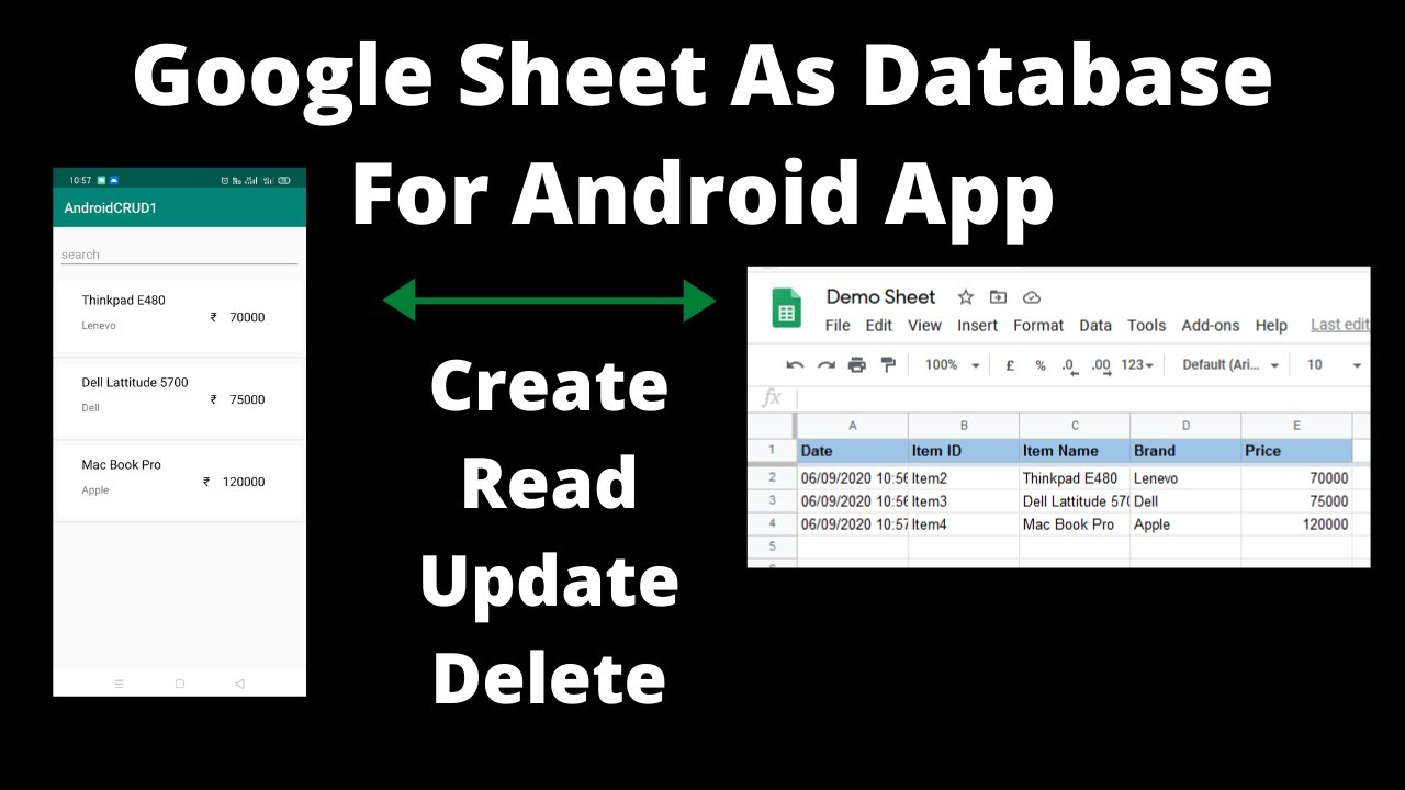 Full Size of Google Sheet As Database For Android Crud Create Read Update Delete Operation Use Spreadsheet