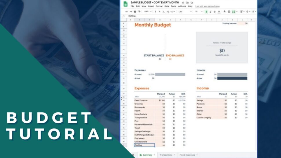 Large Size of Google Sheets Budget Template Tutorial To Create In Time Personal Office Depot Business Spreadsheet