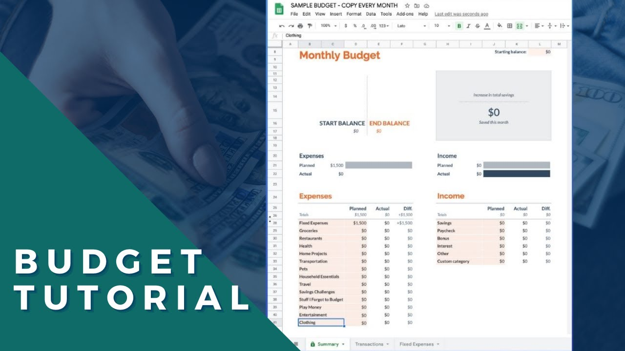 Full Size of Google Sheets Budget Template Tutorial To Create In Time Personal Office Depot Business Spreadsheet