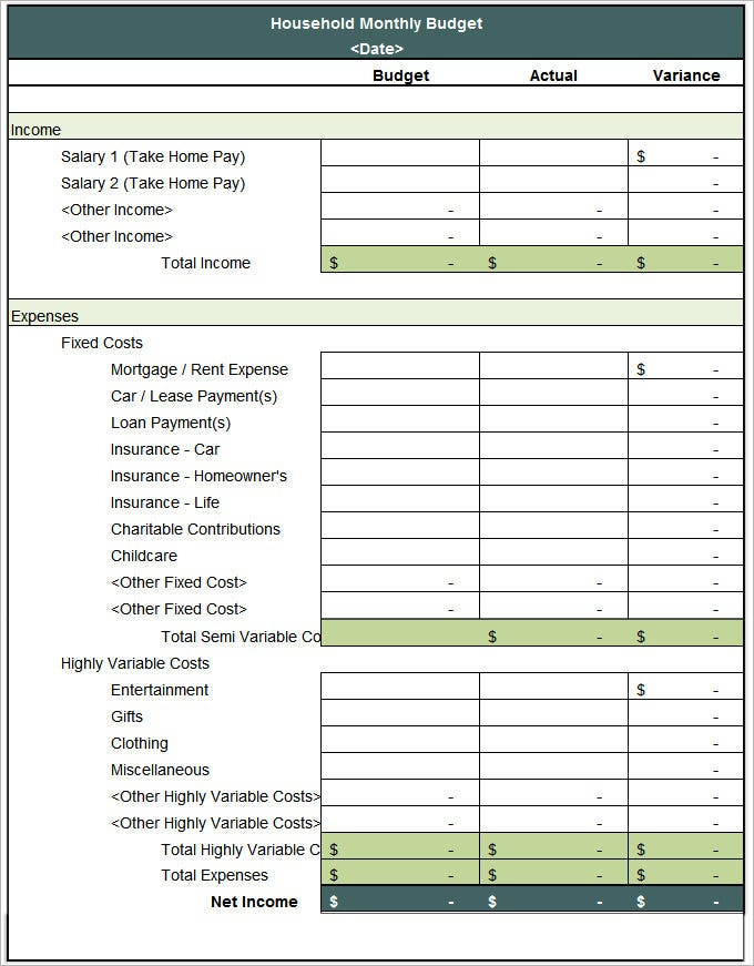 Full Size of Household Budget Template Free Word Excel Pdf Documents Premium Templates Monthly Spreadsheet Expenses