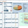 Household Monthly Budget Template Expenses Savings Spreadsheet Excel Business Letter