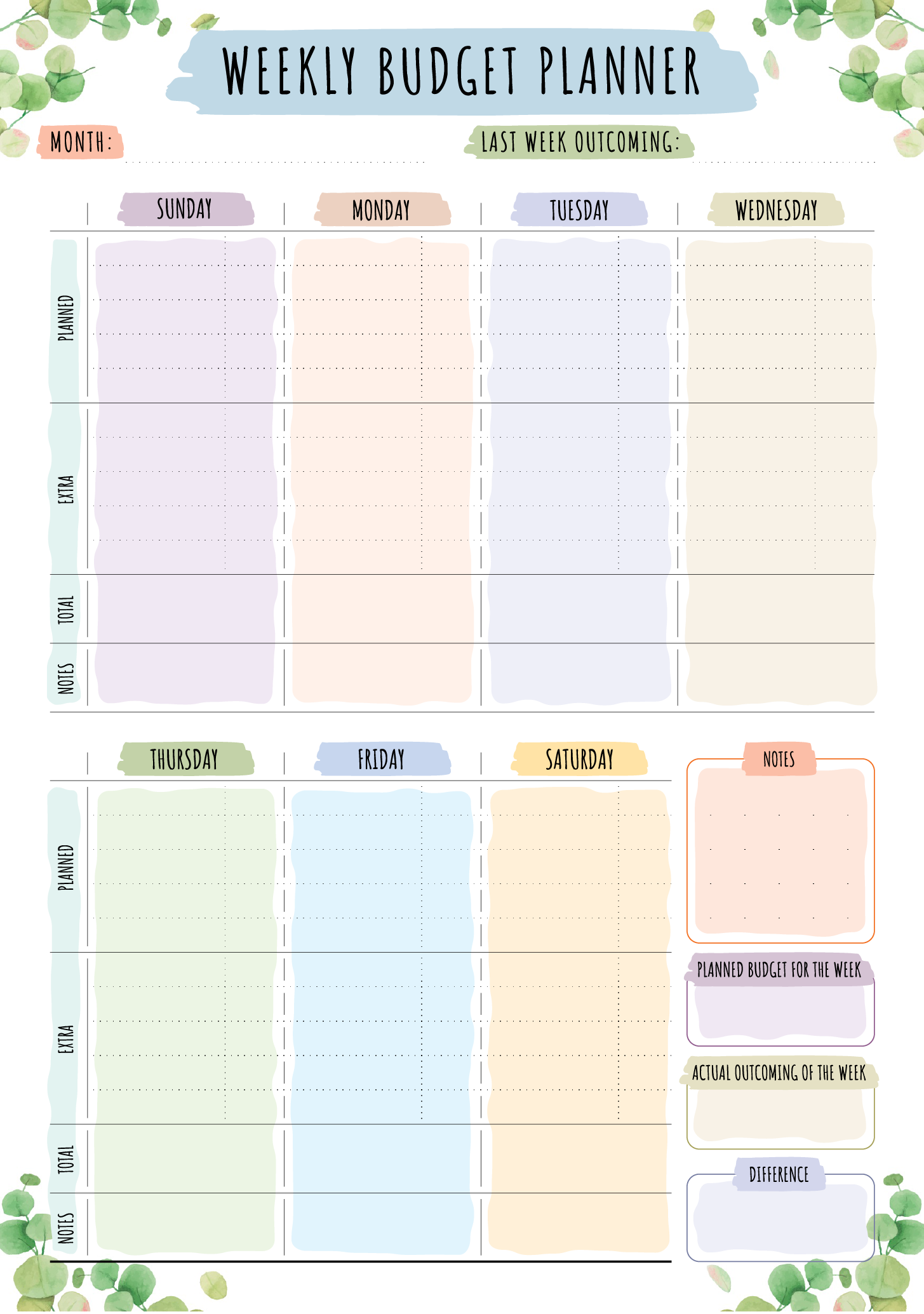 Full Size of In Excel 2010 Create An Spreadsheet With Formulas A Numbers Weekly Budget Template