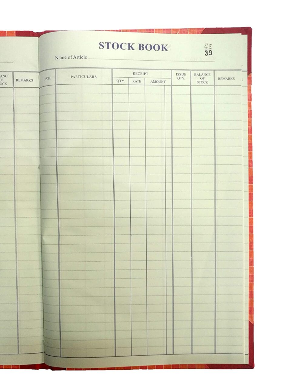 Large Size of Lrs Stock Book With Amount Column Hard Bound Register Size Cm Pack Of In Office Products Spreadsheet Template