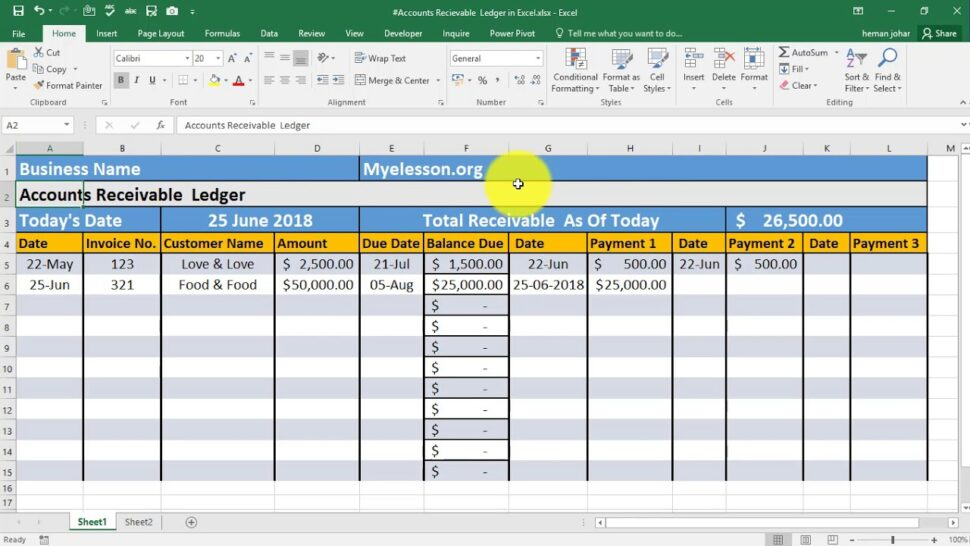 Large Size of Make Accounts Receivable Ledger In Excel Software Expense Report Example Year Financial Spreadsheet