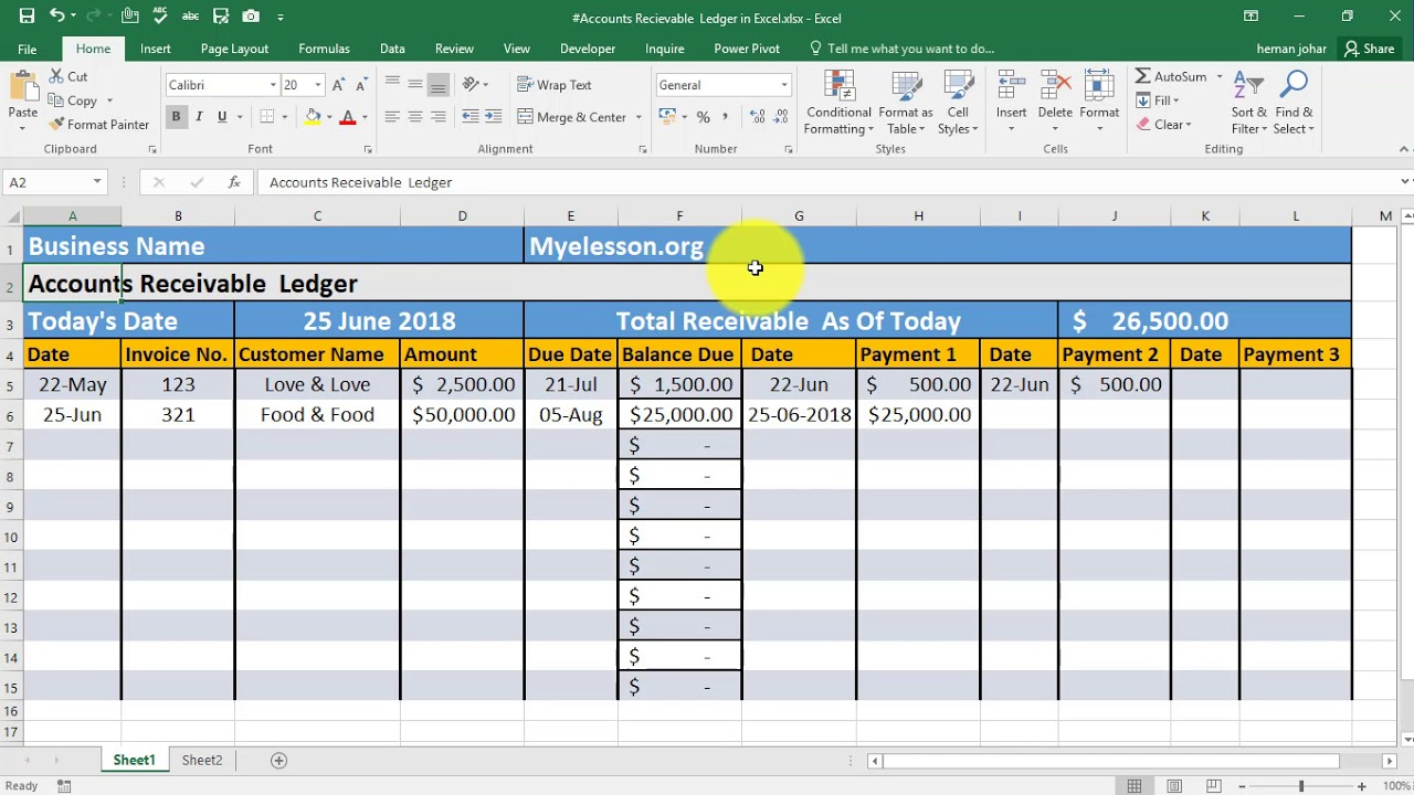 Full Size of Make Accounts Receivable Ledger In Excel Software Expense Report Example Year Financial Spreadsheet