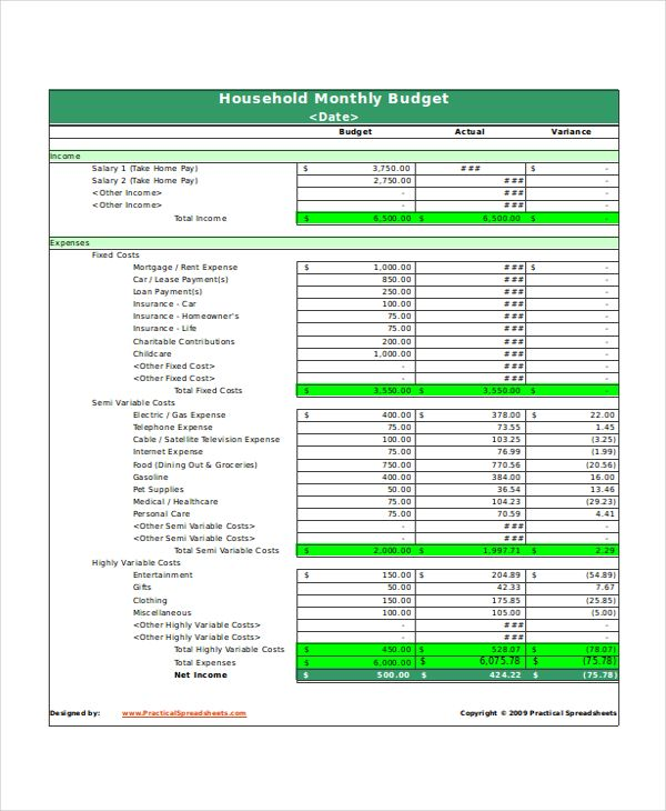 Full Size of Monthly Household Budget Spreadsheet Excel Template To Get Fine Exce Budgeting Worksheets Expenses
