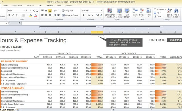 Full Size of Project Cost Tracker Template For Excel Tracking Spreadsheet Free Business Brochure