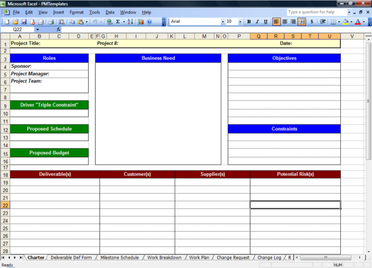 Medium Size of Project Management Spreadsheet Template 1