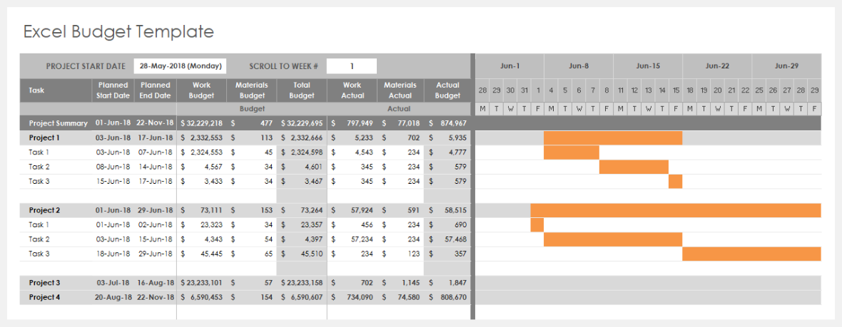 Full Size of Project Management Spreadsheet Template 4