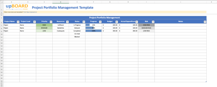 Medium Size of Project Management Spreadsheet Template 7