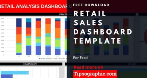 Retail Dashboard Template For Excel Free Business Budget Templates Donation Value Guide Spreadsheet Sales