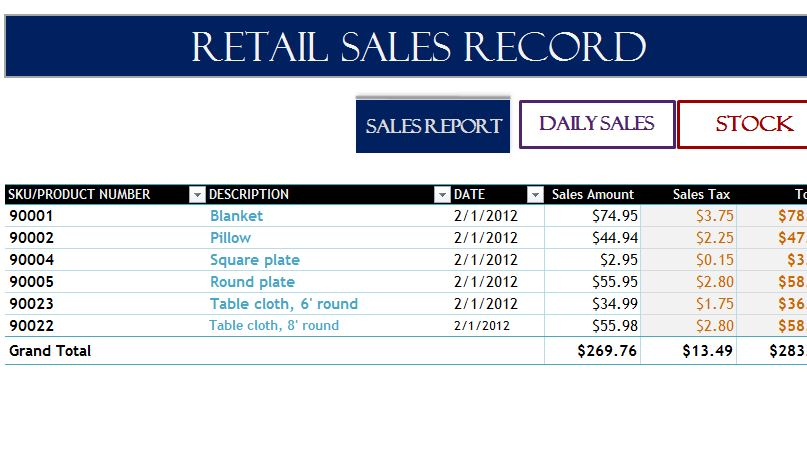 Full Size of Retail Record My Excel Templates Template Free Business Form Debt Spreadsheet Department Sales