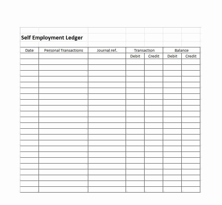 Full Size of Self Employment Income Statement Template New Ledger Free Templates Examples Balance Spreadsheet