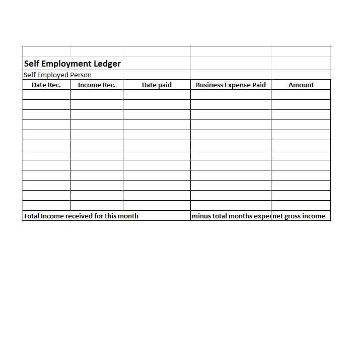 Full Size of Self Employment Ledger Free Templates Examples Template Timesheet Spreadsheet Openoffice
