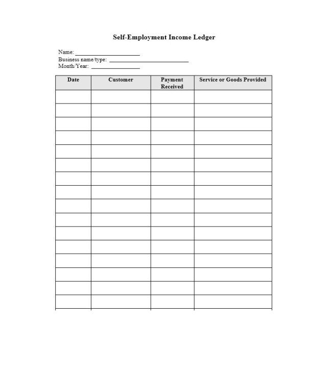 Full Size of Self Employment Ledger Template Excel Free Templates Piano Teacher Business Card Spreadsheet